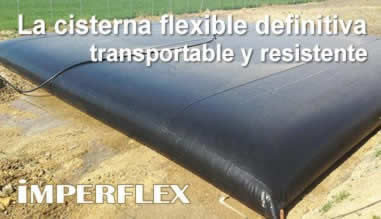 IMPERFLEX: La cisterna flexible definitiva, transportable y resistente.