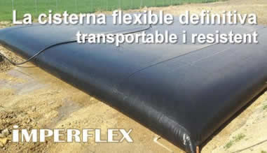 IMPERFLEX: La cisterna flexible definitiva, transportable i resistent.